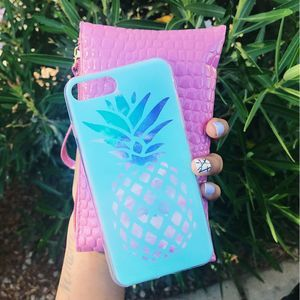 iPhone 7/8 Blue Pineapple Silicone Case